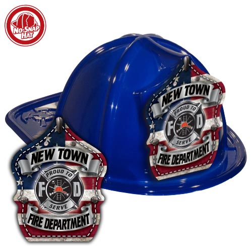 Custom Blue Fre Hats with Americana Shield
