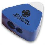 Custom Blue Pencil Sharpener Eraser Combo