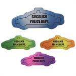 Custom Die Cut Police Car Mood Eraser - Assorted