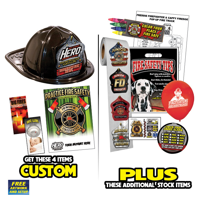 Custom Fire Hat Deluxe Pack w/Black Fire Hats-2019