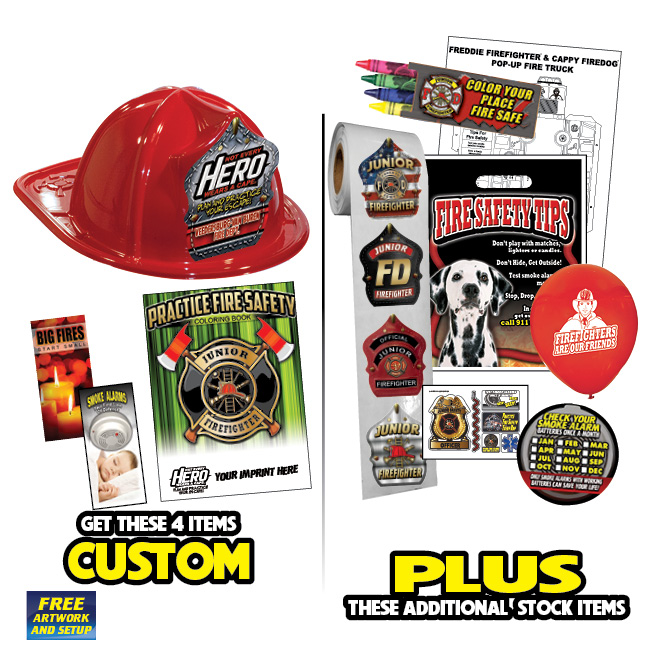Custom Fire Hat Deluxe Pack w/Red Fire Hats - 2019