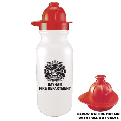 Custom Fire Hat Lid Bike Bottle