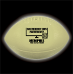 Custom Glow In the Dark Vinyl Football