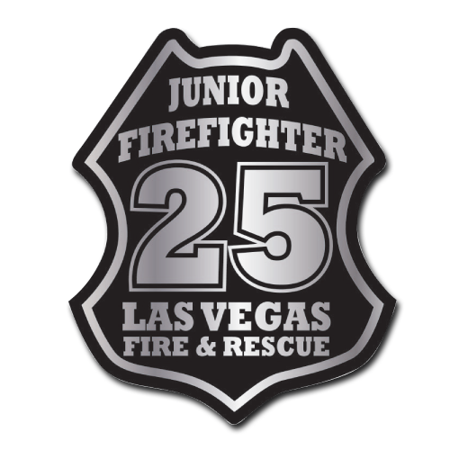 Custom Junior FF & Station Number Stick-On Badge