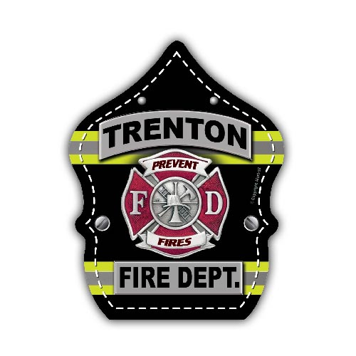 Custom Outdoor Vinyl Sticker - Turnout Gear Shield