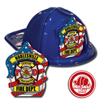 Custom Patriotic Hats in Blue