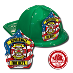 Custom Patriotic Hats in Green