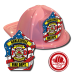 Custom Patriotic Hats in Pink