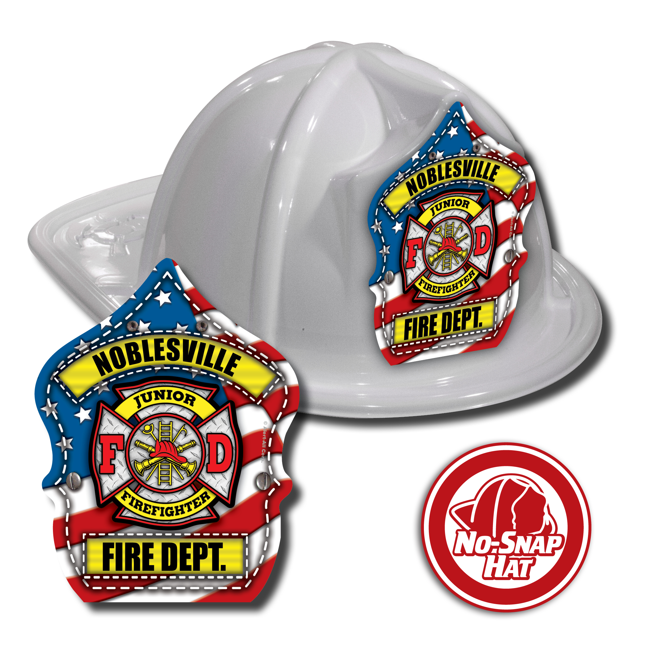 Custom Patriotic Hats in White