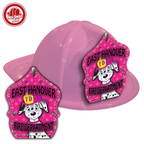 Custom Pink Fire Hat with Cali Fire Pup Shield