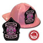 Custom Pink Fire Hats w/ Pink Maltese Cross