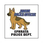 Custom Police Dog 2^ x 2^ Tattoo