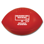 Custom Red Vinyl Football