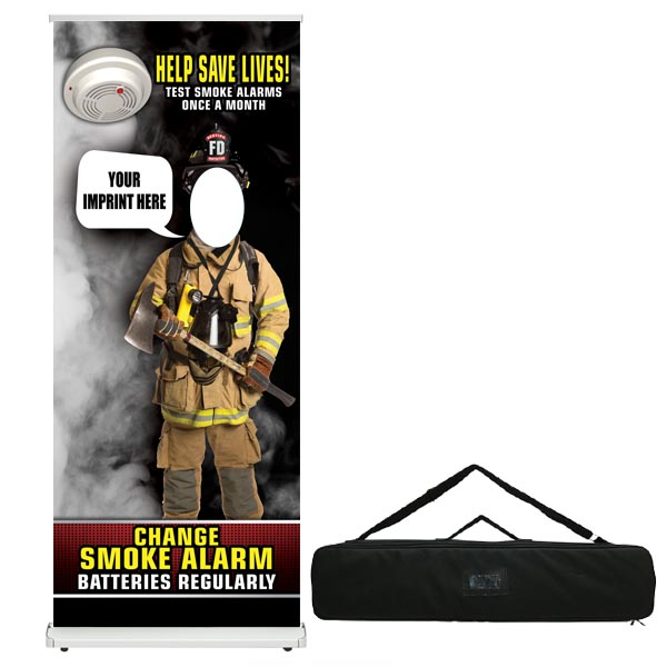 Custom Retractable Photo Prop - Bubble Smoke Alarm