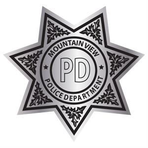 Custom Star Badge Sticker - Silver Foil