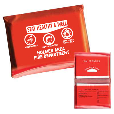 Custom Tissue Pack w/ Health and Safety