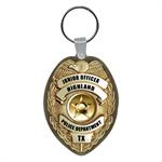 Custom Vinyl Key Tag - Oval Badge