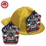 Custom Yellow Fire Hats with Americana Shield