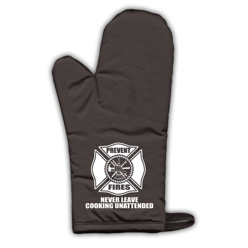 Fire Safety Oven Mitt - Black