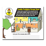 Freddie Firefighter Sticker Escape Game
