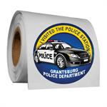 Full Color 2^ Roll Sticker - Police Car