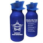 IMP. 20 oz  BLUE BIKE BOTTLE W/ POLICE HAT LID