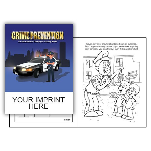 IMP. CRIME PREVENTION  COLORING & ACTIVITY  BOOK