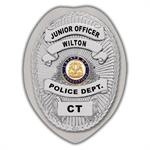 IMP. POLICE BADGE STICKER - STATE SEAL (CT)