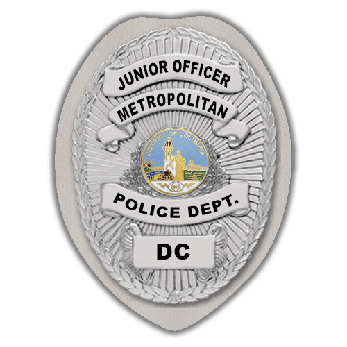 IMP. POLICE BADGE STICKER - STATE SEAL (DC)