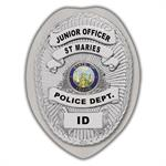 IMP. POLICE BADGE STICKER - STATE SEAL (ID)