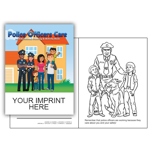 IMP. POLICE OFFICERS CARE COLORING & ACTIVITY  BOOK