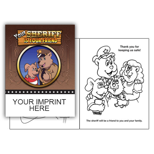 IMP. YOUR SHERIFF IS YOUR FRIEND COLORING & ACTIVITY  BOOK