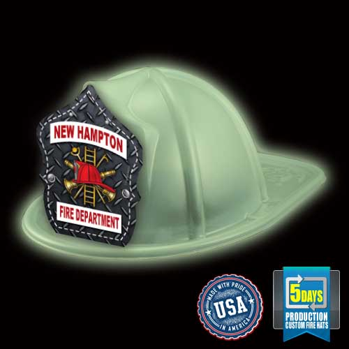 Imp. Fire Hat - Glow In The Dark - Diamond Plate