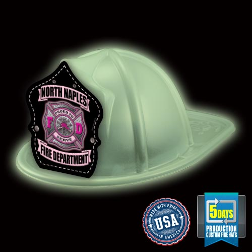 Imp. Fire Hat - Glow In The Dark - Pink FD Shield