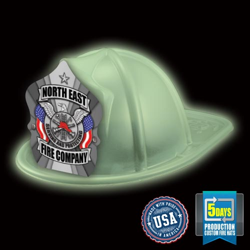 Imp. Fire Hat - Glow In The Dark - Silver Eagle