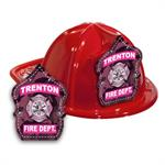 Imp. Fire Hats - Red w/ Pink Camo Shield