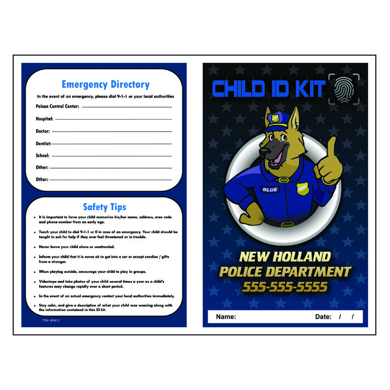 Imprint Finger Print ID Kit - Blue The Police Dog