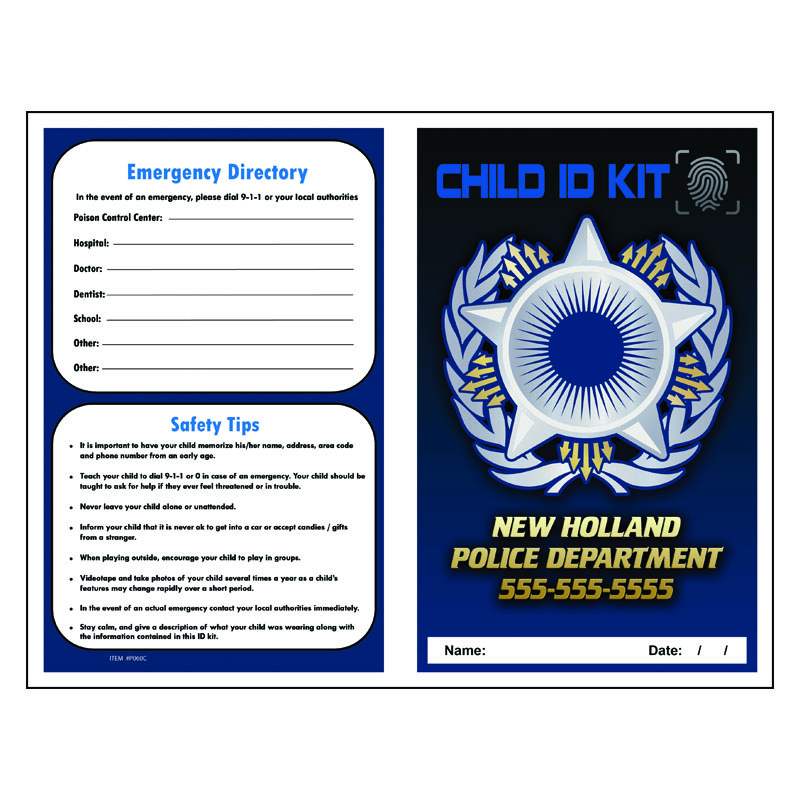 Imprint Finger Print ID Kit - Police Badge