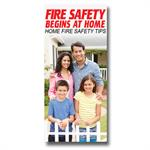 Imprinted--Fire Safety Begins At Home Brochure