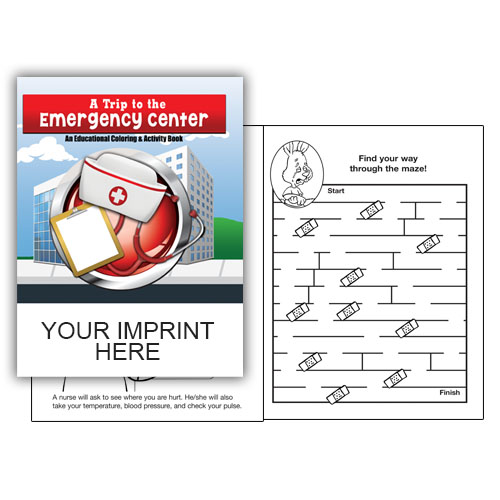 Imprinted A Trip To The Emergency Center Coloring Book