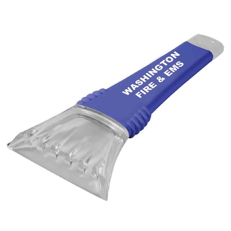 Imprinted Blue 10' Ice Scraper