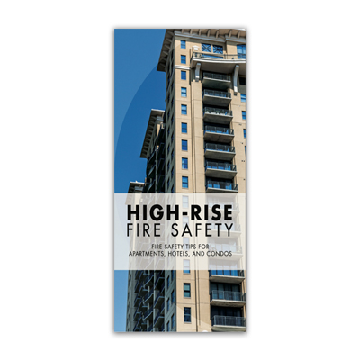 Imprinted High Rise Fire Safety Brochure