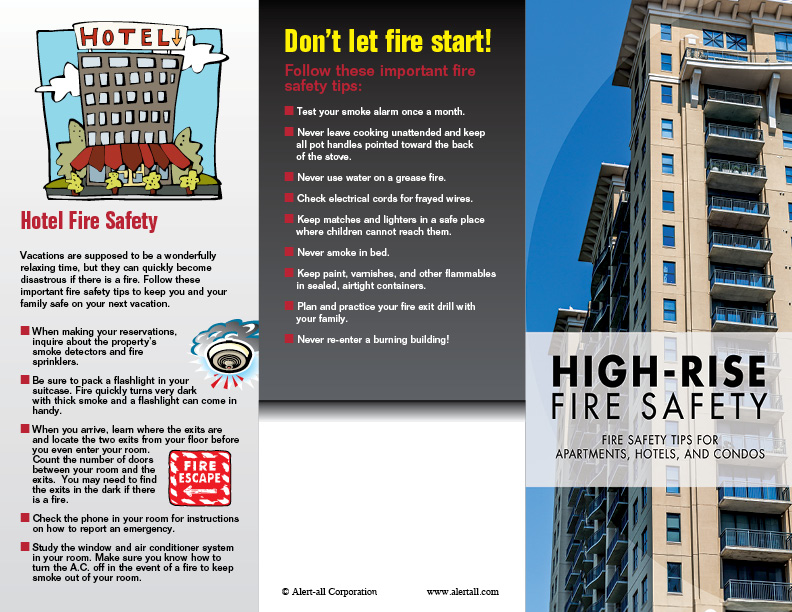 Imprinted High Rise Fire Safety Brochure 2