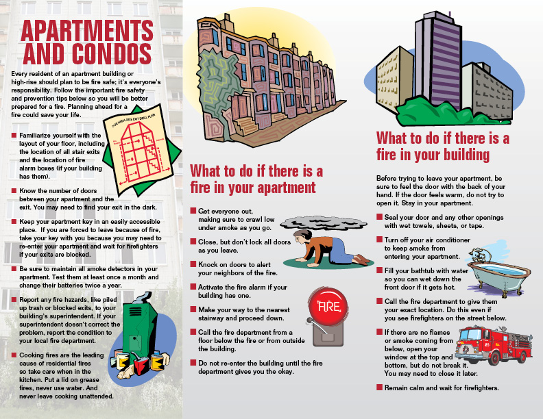 Imprinted High Rise Fire Safety Brochure 3