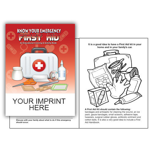 Imprinted Know Your Emergency First Aid Coloring B