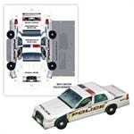 Imprinted Pop Up Police Car