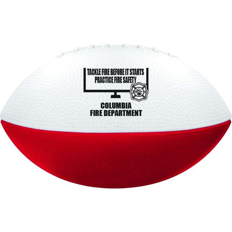 Imprinted Red/ White Foam Football