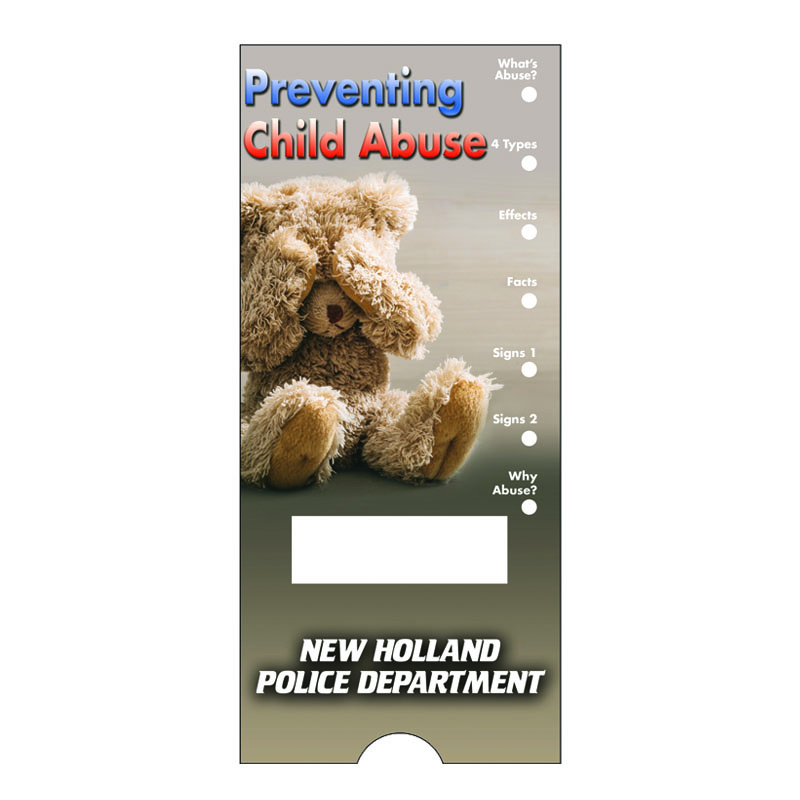 Imprinted Slide Guides - Preventing Child Abuse