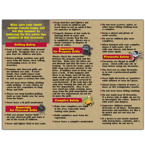 Imprinted Summertime Fire Safety Brochure 2