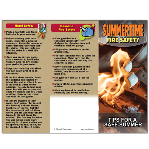 Imprinted Summertime Fire Safety Brochure 3